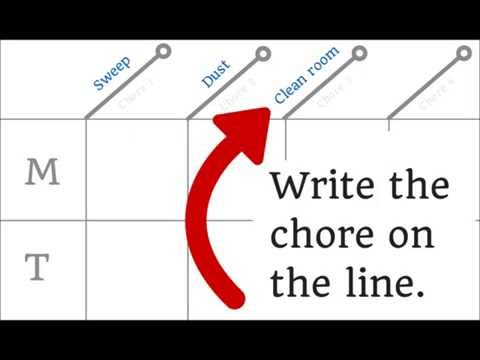 Chore Chart for Kids ~ Goes with Daily Housekeeping Jobs