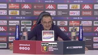 """Genoa-juve 1-3, Sarri: """"preso Per Il C**o Per La Finale Persa...assurdo Derby Alle 17"""""""