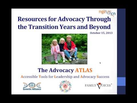 Resources for Advocacy Through the Transition Years and Beyond