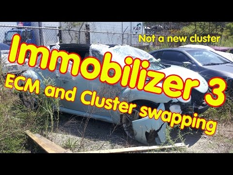 ECM and cluster swapping for Immobilizer 3 - YouTube