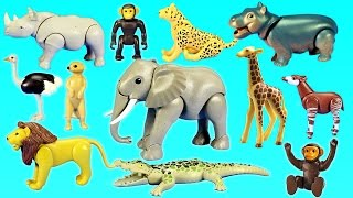 Playmobil African Safari Toy Wild Animals  Watering Hole Building Set For Kids