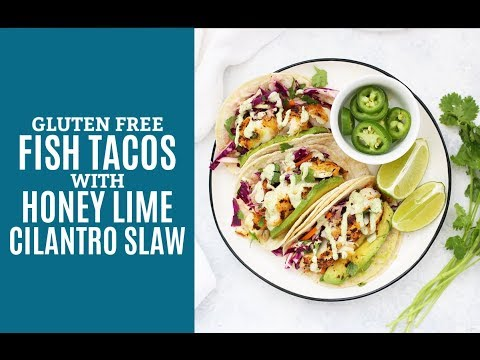 (The BEST!) Fish Tacos With Honey Lime Cilantro Slaw