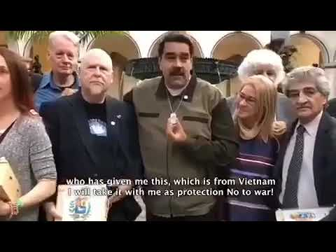 World Peace Council Delegation in solidarity with President Maduro #HandsOffVenezuela