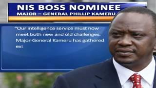 President Uhuru Appoints Maj. Gen. Kameru as the New NIS Boss