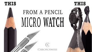 I carve Micro Watch from a pencil