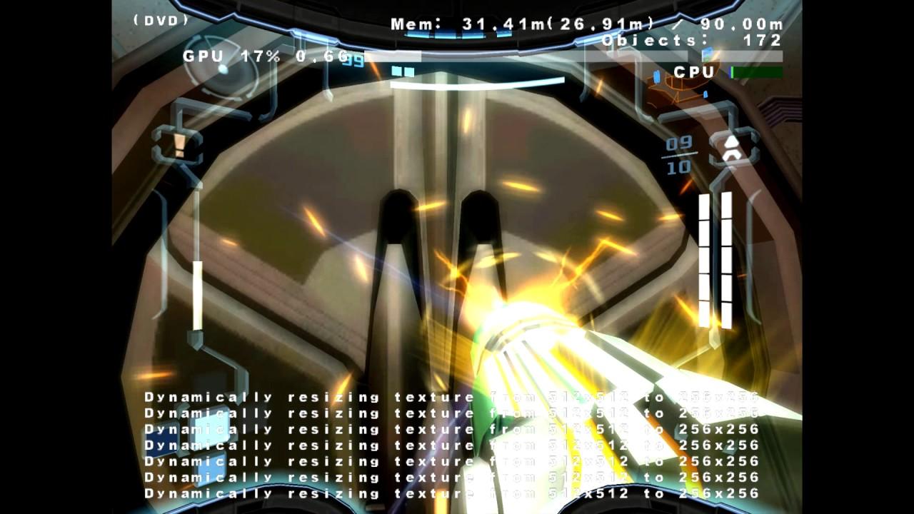 Metroid Prime 3 e3 2006 Beta running in Dolphin