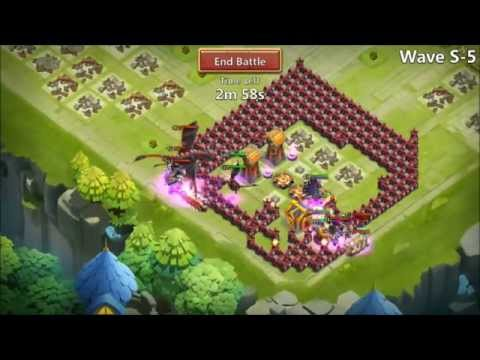 Castle Clash Beating HBM S With NO Magic Towers New Base First TRY
