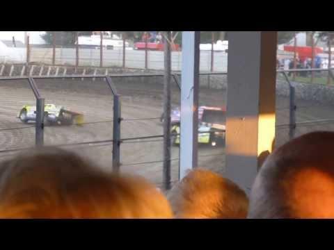 West Liberty Raceway tornado tues LM heat 2 8/6/13