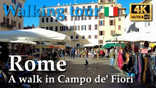 Rome | A walk in Campo de' Fiori, Italy【Walking Tour】With Captions - 4K screenshot 5