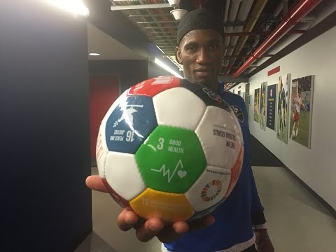 UNDP Goodwill Ambassador Didier Drogba supports the #GlobalGoals