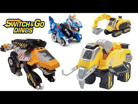 VTECH SWITCH AND GO DINOS ATTILA THE ANKYLOSAURUS, VTECH DIGGER THE WOOLLY MAMMOTH, VTECH ANGUS RC
