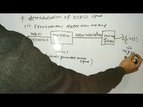 DEMODULATION OF DSB-SC SIGNAL || COMMUNICATION SYSTEM