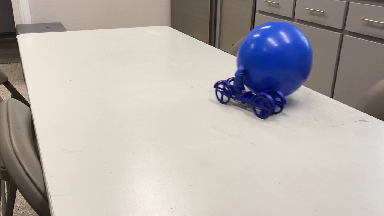 3d Printed Single Cylinder Air Engine Car Balloon Powered
