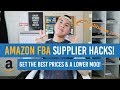 Amazon FBA Supplier HACKS! Get The BEST Prices Possible and A LOWER MOQ!