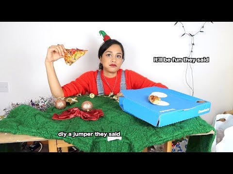 i tried to make a diy christmas jumper   clickfortaz