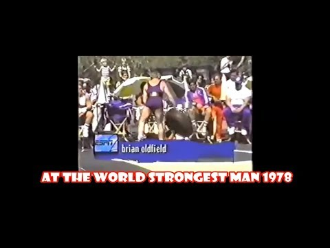 Brian Oldfield at the World strongest man 1978 tire toss.