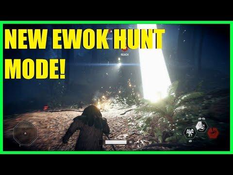 Star Wars Battlefront 2 - EWOKS WILL RULE THE GALAXY! | New Ewok hunt mode!