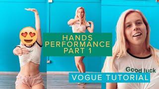 VOGUE TUTORIAL | #2 HANDS PERFORMANCE 1 PART | TATIANA HURRICANE