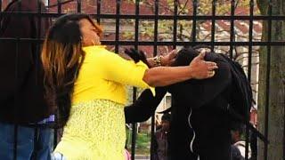 Angry mom smacks protesting son