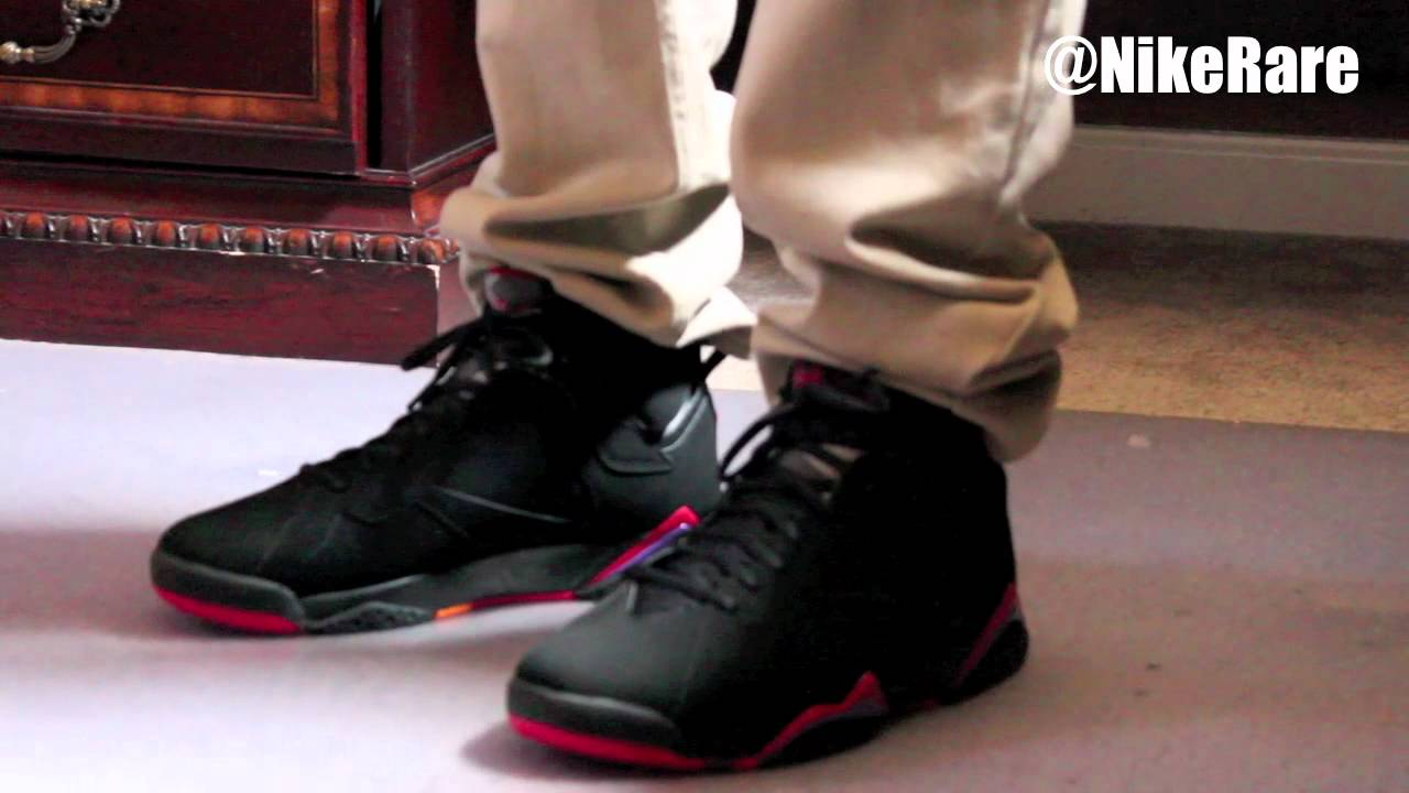 new style 0e472 80b30 Air Jordan 7 Raptor 2012 ON FEET (Slim   Skinny Jeans) - YouTube