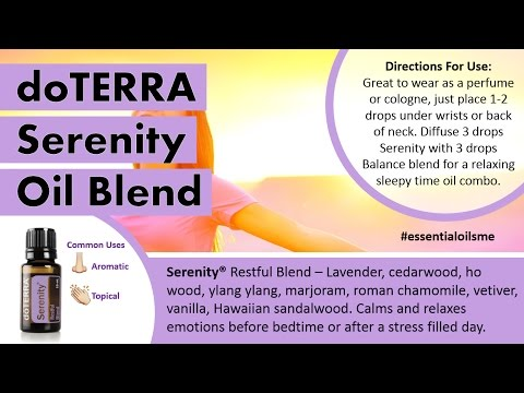 awesome-doterra-serenity-oil-blend-uses