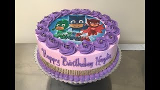 Como decorar pastel de PJ MASKS para NIÑA - Super facil... Luis Sibrian