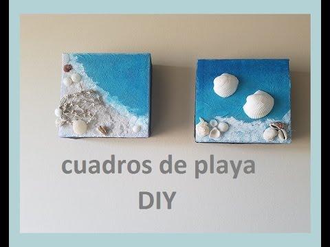 Diy cuadros de playa youtube - Cuadros hechos con piedras de playa ...