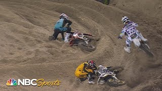 Worst crashes from Supercross at Tampa | Motorsports on NBC