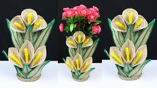 How to make a beautiful flower vase for home decoration | best out of waste