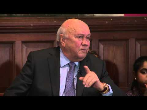F.W. De Klerk | Zimbabwe | Oxford Union