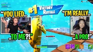 This GIRL streamer LIED to me about being a PRO PLAYER in Fortnite... (she's GOATED!)