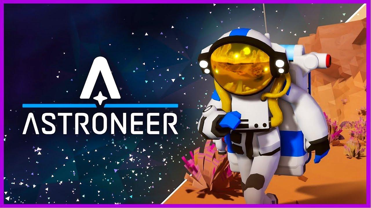 Astroneer игра - Космический симулятор выживания в открытом мире. Строительство космо базы!