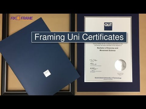 How to Frame Queensland University Degree Certificate