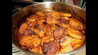 מתכון-סופריטו עוף עם תפוחי-אדמה ובצל ותבלינים שחומים בתנור מנה משגעת