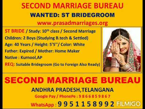 St Second Marriage Bride Ready To Move Foreign Also Wanted