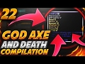 NEW GOD AXE + DEATH COMPILATION!   Minecraft FACTIONS #22 (CosmicPvP Ice Planet)