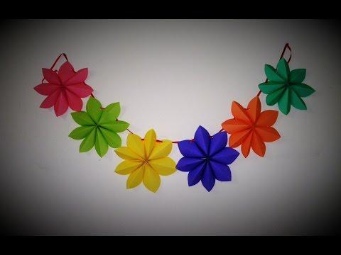 Diy crafts : Paper stars garland - Ana | DIY Star Paper Garland Room Decor