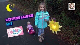 LATERNE LAUFEN MIT BABY BORN SISTER ♥ Baby born Puppe fährt Schlitten   Zapf