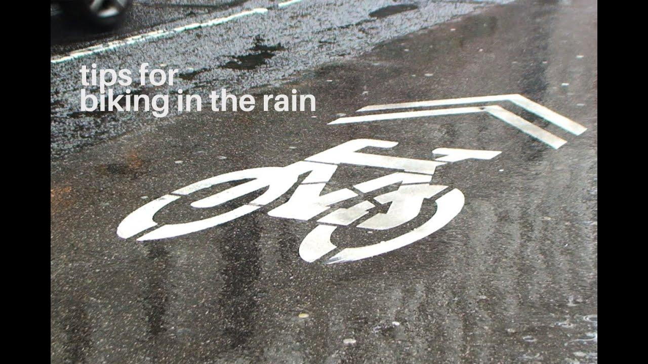 urban biking tips for biking in the rain youtube