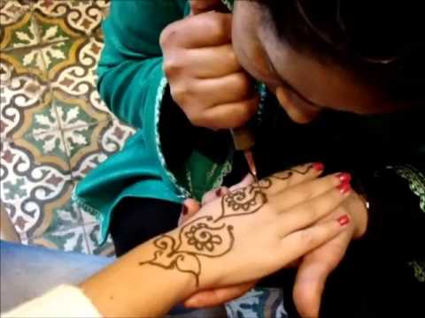Henna Mandala Hand Design In Morocco Fez Youtube
