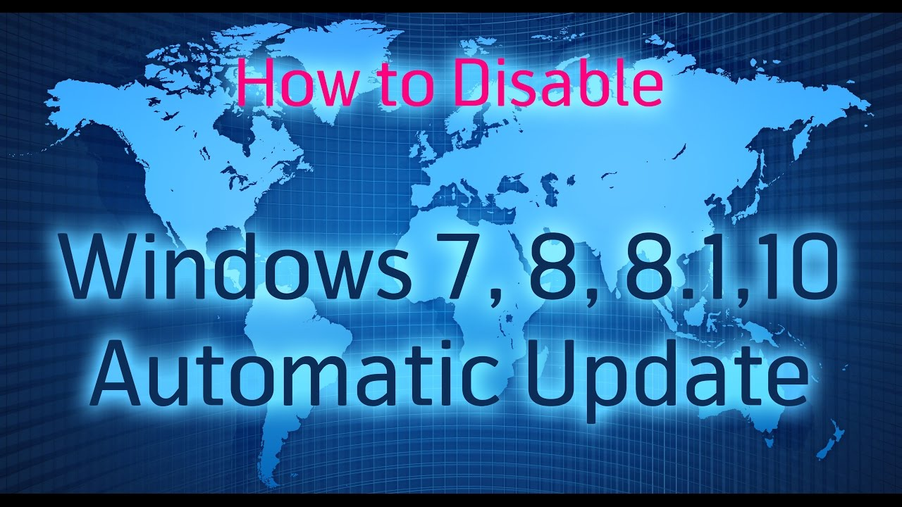 how to stop window automatic update