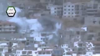Syria #8 Dictator Assad Tries to Destroy Zabadani City With Heavy Artillery 4-Nov-13 Damascus