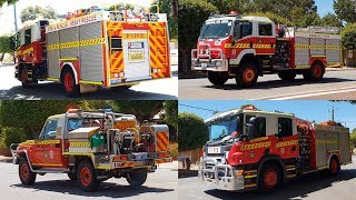 6 Fire Trucks Responding to 2nd Alarm House Fire, Armadale W.A. 19 Jan 2019