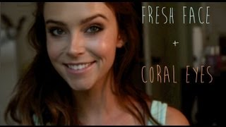 Fresh Face + Coral Eyes Makeup Tutorial | Au De Couture Thumbnail