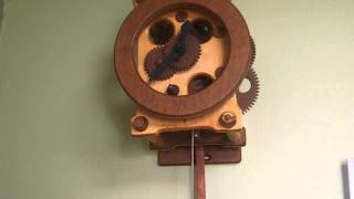 Hand Made Wooden Clock, Hand Crafted Wooden Pendulum