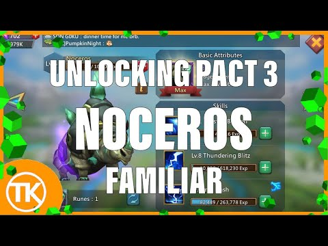 Lords-Mobile | NOCEROS FAMILIAR TO ELDER // WHAT MAKES HIM SO GOOD?! + OPENING ALOT PACTS