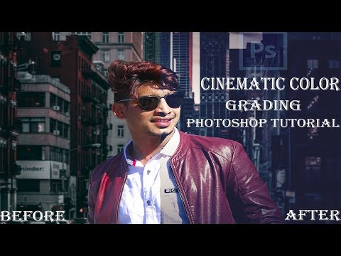 Cinematic How to make Color Grading for Movie Look Effect Photoshop Tutorial / Tech Perfect thumbnail