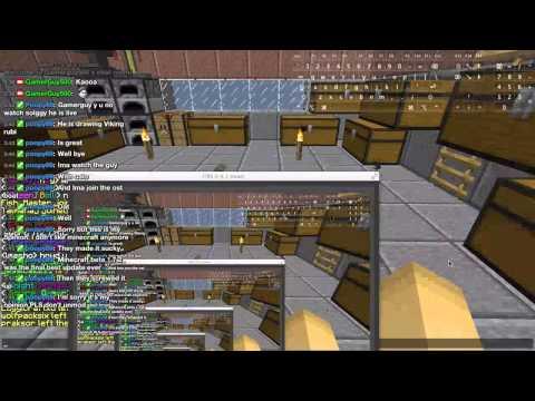 Minecraft with weather radio in the BG