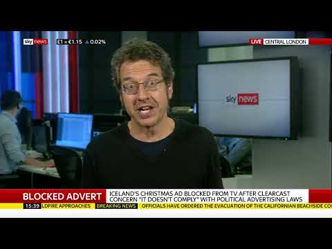 Sky News on banned Iceland advert, 9th Nov 2018