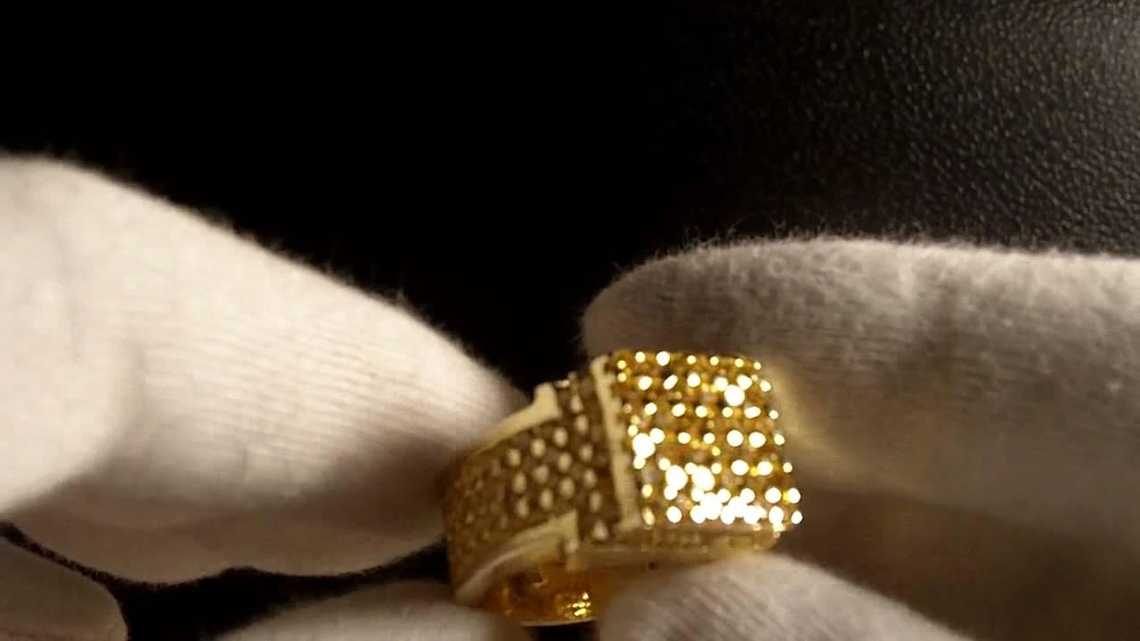 Gold Canary Sim. Diamond Pinky Ring Soulja Boy Jewelry Connect Lab ...